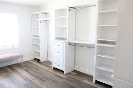 half closet half desk a dressing room and office closet reveal from sandy a la mode