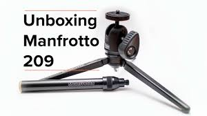 manfrotto table top tripod kit unboxing manfrotto 209 youtube