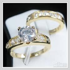 white zircon rings images Best gemstone jewelry 18k yellow gold wedding band gp white zircon jpg