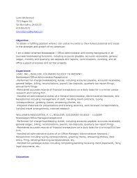 Accounts Receivable Job Description Resume by 27 Best Bookkeeper Resume For Job Description Vntask Com