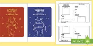 space passport templates english italian space passport