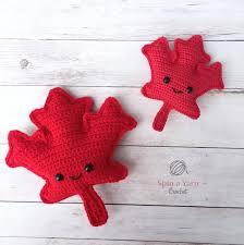 amigurumi leaf pattern maple leaf amigurumi free crochet pattern spin a yarn crochet