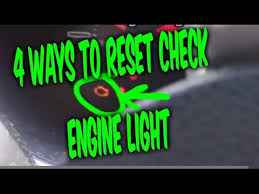 how to fix check engine light how to reset check engine light codes 4 free easy ways youtube