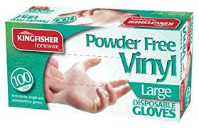 vinyl gloves powder free 100pk large new co uk diy tools