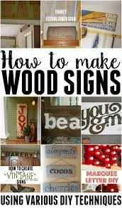 how to make wooden signs using various techniques this u0027s life