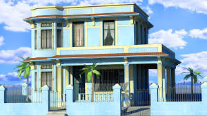 cuban house lowpoly by vankata on deviantart