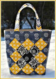 pattern for tote bag with zipper no zippers no pockets easy to sew patchwork tote bag