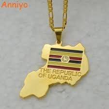 Map Of Uganda Aliexpress Com Buy Anniyo The Republic Of Uganda Map Pendant
