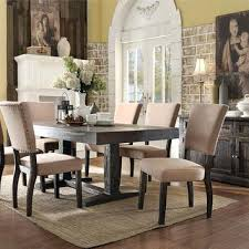 dining table white distressed dining table set room chairs for