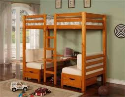 Bunk Bed With Desk Bedroom Charming Tween Loft Bed Complete With Single Bed Desk