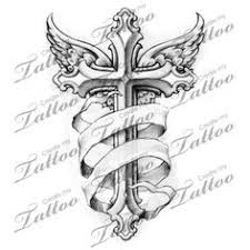 cross with wings tattoo design by protxtics deviantart com on