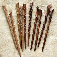 hair sticks hawaiian hardwood hairstick