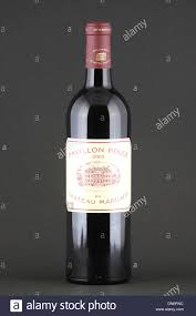 chateau margaux i will drink a bottle of wine pavillon 2005 chateau margaux stock
