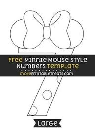 free minnie mouse style letter f template large shapes and