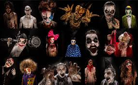 Scary Halloween Monsters by Dark Monster Halloween Horror Evil Blood Collage Poster Wallpaper