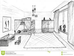 children u0027s room graphical sketch stock images image 29973214