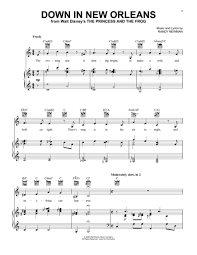 Download Down In New Orleans Sheet Music By Randy Newman Sheet Princess And The Frog Sheets