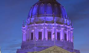 sf city hall lights san francisco city hall lights up in purple for domestic violence