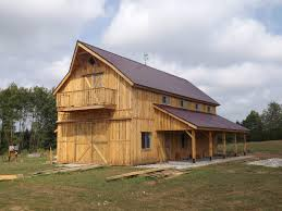 high pitched gable barns are one of the oldest barn designs