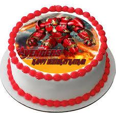 iron cake topper iron hulkbuster edible birthday cake topper birthday cakes