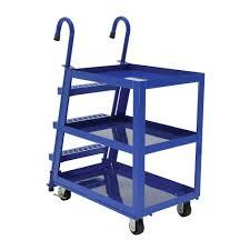 Furniture Dollies Home Depot by Vestil 22 In X 36 In 1 000 Lb Steel 3 Shelf Stock Picker Truck