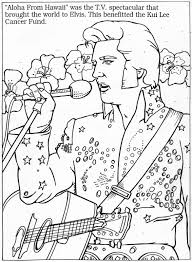 elvis colouring page