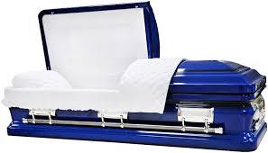 blue casket best price caskets 8474 royal blue casket w black accents br