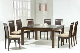 Dark Dining Room Table by Dark Walnut Modern Dining Table W Glass Inlay U0026 Optional Chairs