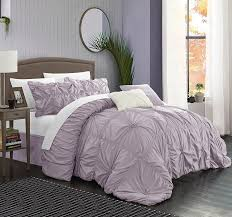 Mauve Comforter Sets Amazon Com Chic Home Cs1441 An Halpert Floral Pinch Pleat Ruffled