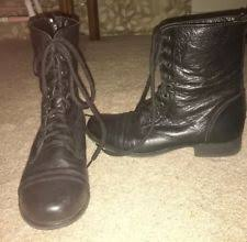s lace up combat boots size 11 steve madden s black synthetic leather lace up combat boots m