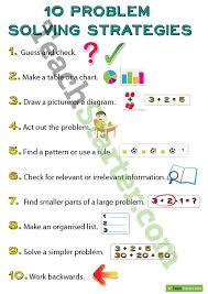 10 problem solving strategies posters teaching resource u2013 teach
