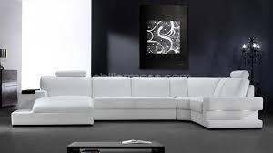 canapé cuir blanc design canapé d angle cuir blanc design intérieur déco