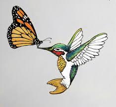 monarch butterfly hummingbird design hummingbird