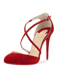 christian louboutin crossbreche suede red sole pump in red lyst