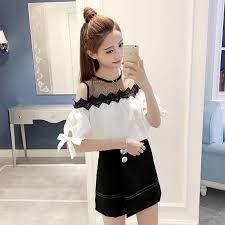 shoulder cut out blouse contrast cut out shoulder blous end 12 13 2018 2 15 pm
