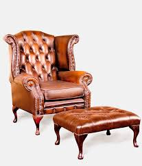Leather Chesterfield Armchair Vintage Chesterfield Queen Ann Armchair Ginko Collection