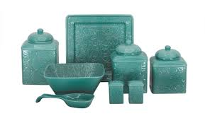 teal kitchen canisters teal kitchen canister sets decorating clear