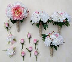 Silk Bridal Bouquet Silk Scapes High Qualitysilk Wedding Flowers