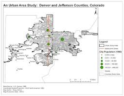 colorado population map an area study denver and jefferson counties colorado
