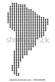 south america dot map south america map dotes stock vector 684195406