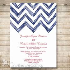 Navy Blue Wedding Invitations Navy Blue Nautical Chevron Wedding Invitations Iwi282 Wedding