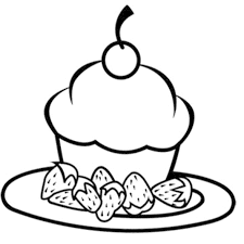 other printable happy birthday cupcake coloring pages coloring