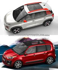 2017 citroen c3 aircross vs 2012 citroen c3 picasso left side