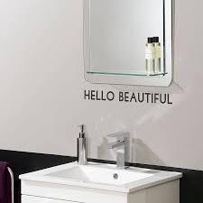 hello beautiful u0027 mirror sticker by oakdene designs