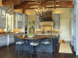 french country kitchen decorating with painted island kitchen paint colors with white cabinets blue design accent color