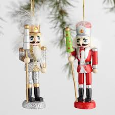 5 pack multicolor wood nutcracker boxed ornaments set of 2 world
