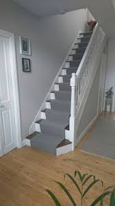Narrow Stairs Design 23 Pretty Painted Stairs Ideas To Inspire Your Home Gray Carpet