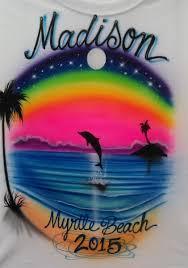 custom spray paint shirts custom airbrushed t shirt dolphin beach scene airbrush sunset