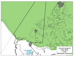 Canada Territories Map by Polar Bear Range In Northwest Territories Map Northwest