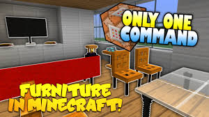 Minecraft Furniture Ideas Pe Furniture In Minecraft No Mods Only One Command Block One
